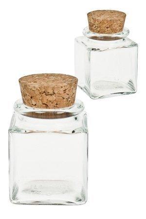 DEKO-Glas 50 ml quadratisch - 1 Stück - Stein und Leidenschaft
