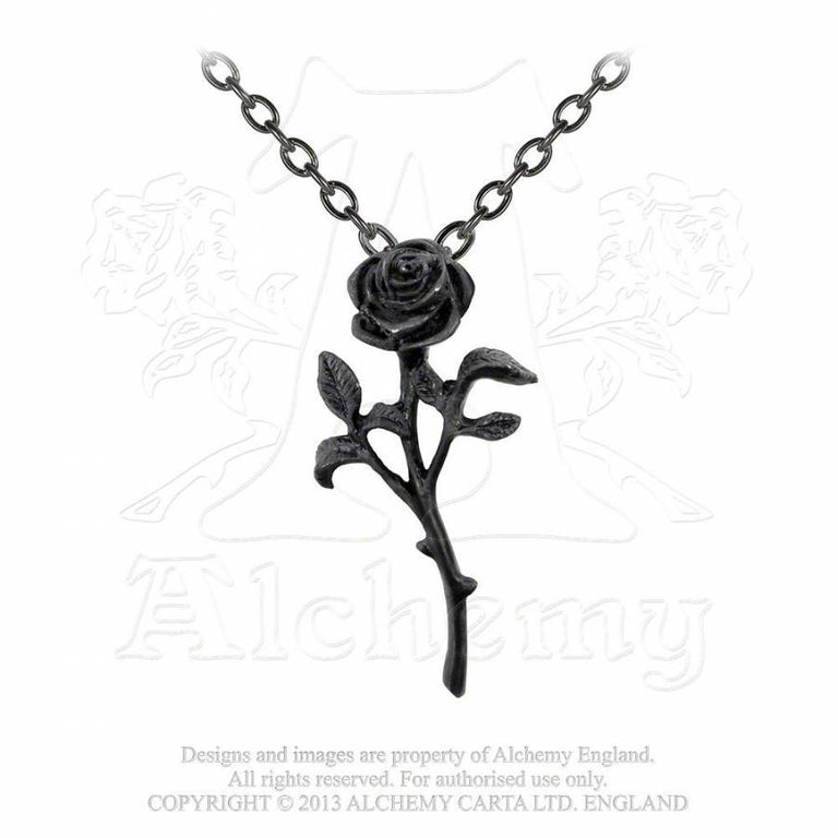 Alchemy P695 The Romance of The Black Rose - Halskette