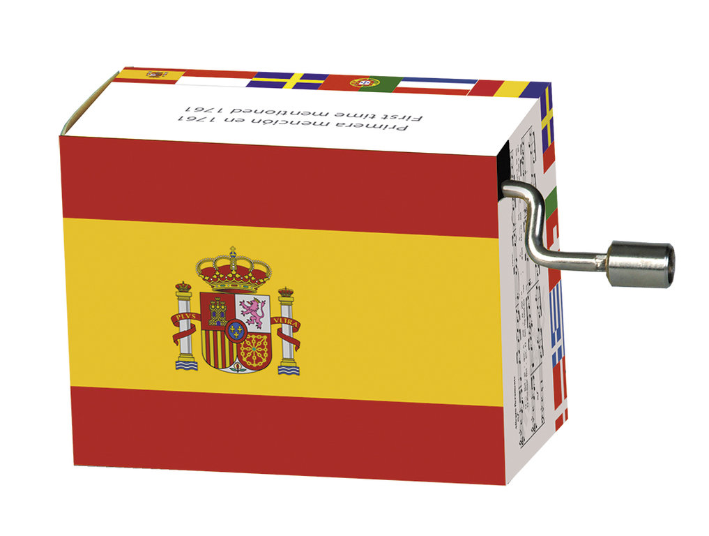 "Fridolin® Spieluhr ""National Hymnen"", Spanien"
